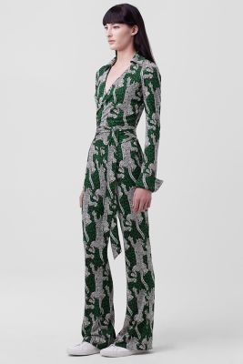DVF Printed Wrap Jumpsuit