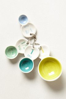 Color Tab Measuring Spoons, Set of 4 - eclectic - measuring cups and spoons - by Anthropologie