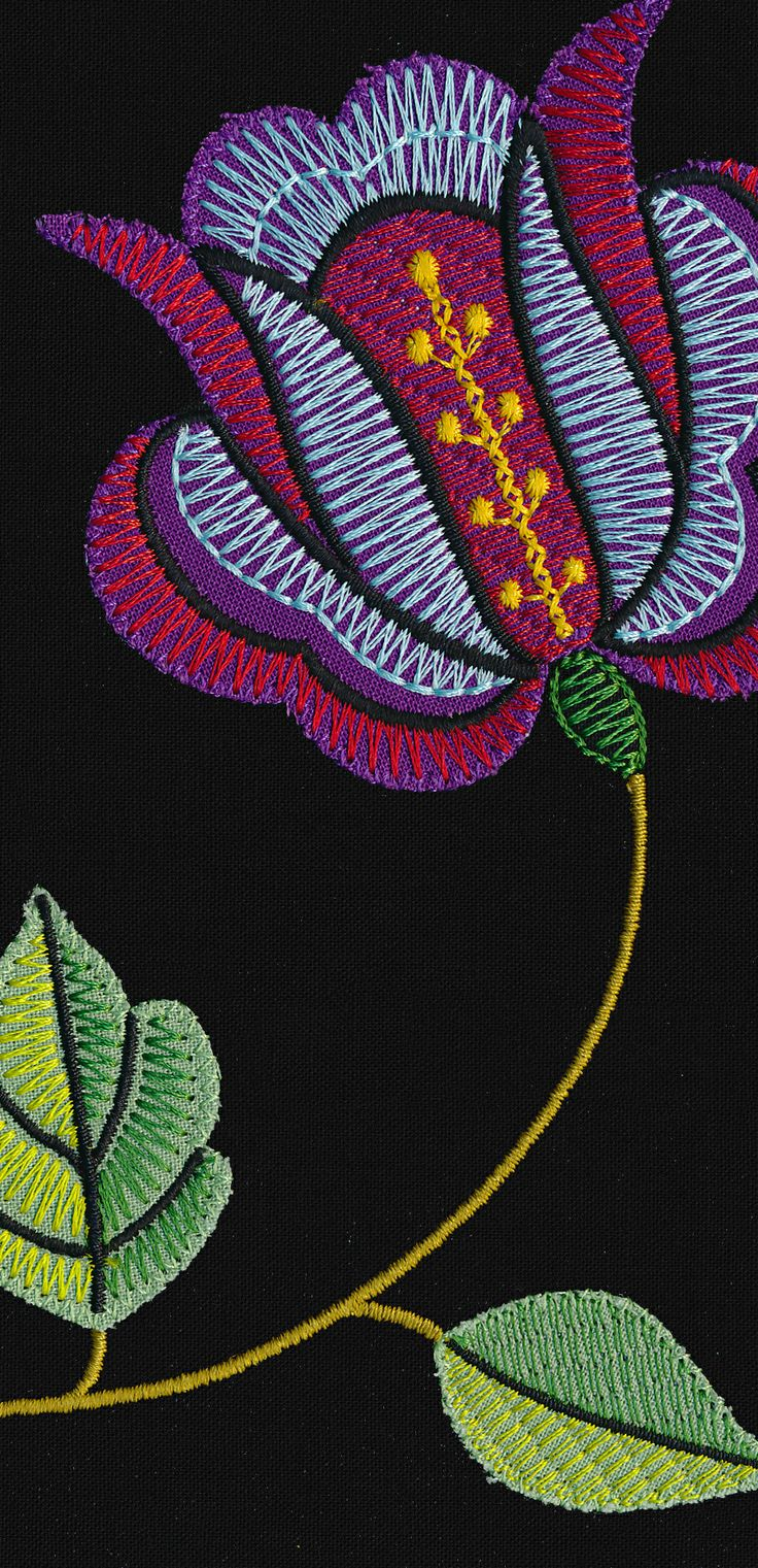 57 Best Embroidery On Clothing Images On Pinterest | Machine Embroidery Designs Appliques And ...