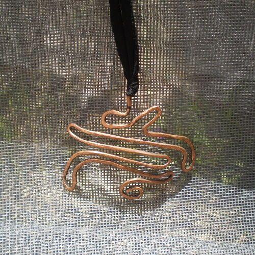 Artisan Copper Handmade Hammered Pendant Necklace  #Unbranded #Pendant