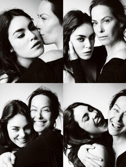 Amanda Harlech and Tallulah Ormsby-Gore by Mario Testino