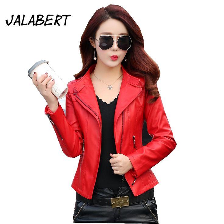 >> Click to Buy << 2017 New Autumn Leather jacket women short slim female leather jacket lapel coat PU Motorcycle Jacket #Affiliate