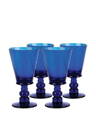 20% OFF Roma Goblet Cobalt Glass, Set of 4