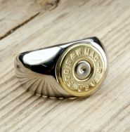 Men's Stainless Steel & Brass Bullet Ring  Got this ring for my husband's wedding band and he loves it!