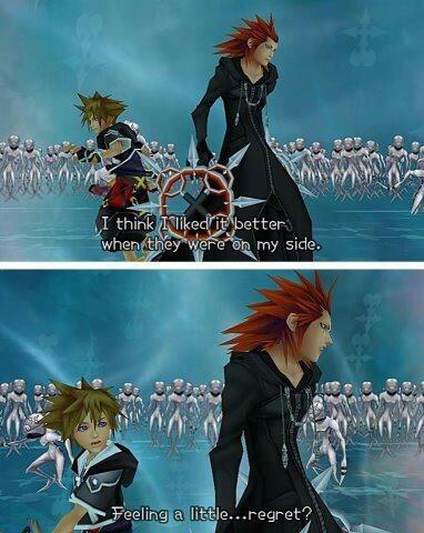 Kingdom Hearts - Sora and Axel
