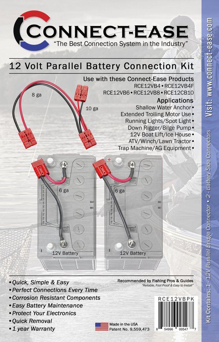 12 volt parallel battery connection kit rce12vbpk in