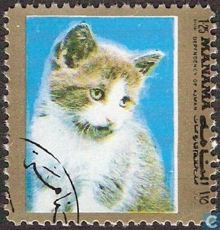 Postage Stamps - Ajman - Manama - Dogs and cats