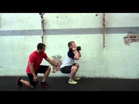 ▶ Dumbbell Front Squat Exercise Demonstration - YouTube