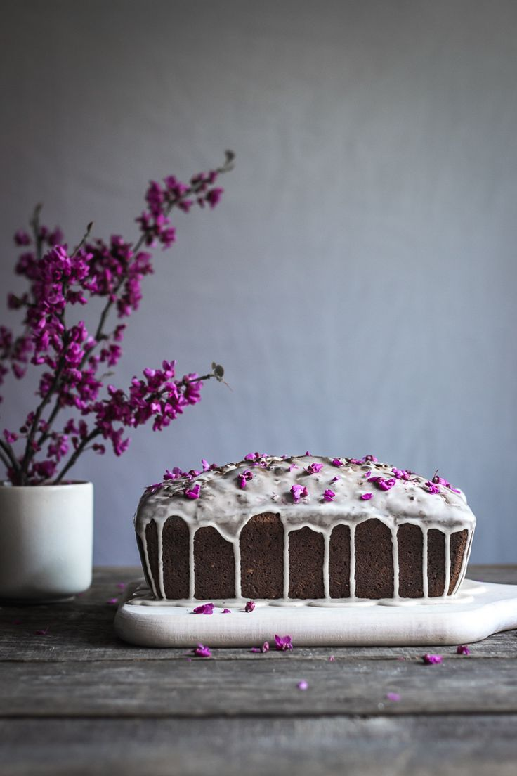 redbud & lemon cornmeal loaf cake