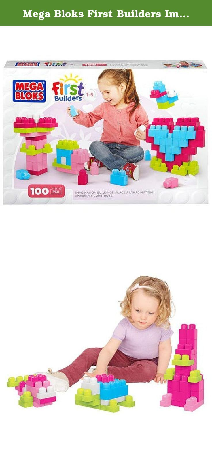 Mega Bloks First Builders Imagination Building - Pink. Spark your little one's imagination with bright shades of pink, white, turquoise, and lime green pieces in the Imagination Building set by Mega Bloks First Builders. Designed especially for preschoolers, these big blocks are perfect for little hands. With 100 blocks in bright colors, your little builder can create pretty palaces, tall towers, and so much more! Fun on its own or combined with other Mega Bloks First Builders sets.