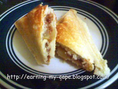 Earning-My-Cape: Apple Shortcake Turnover (Recipe for the Sandwich Maker )