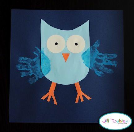 owl hand print
