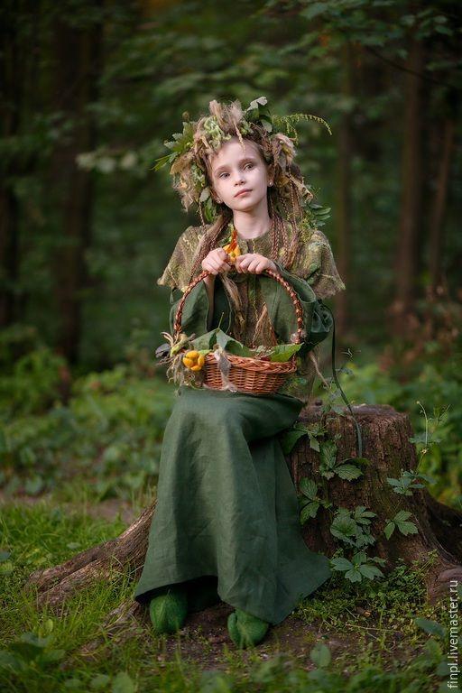 Felted clothes for girl - Купить Лесная фея - разноцветный, абстрактный, эльф, лесная фея, ундина