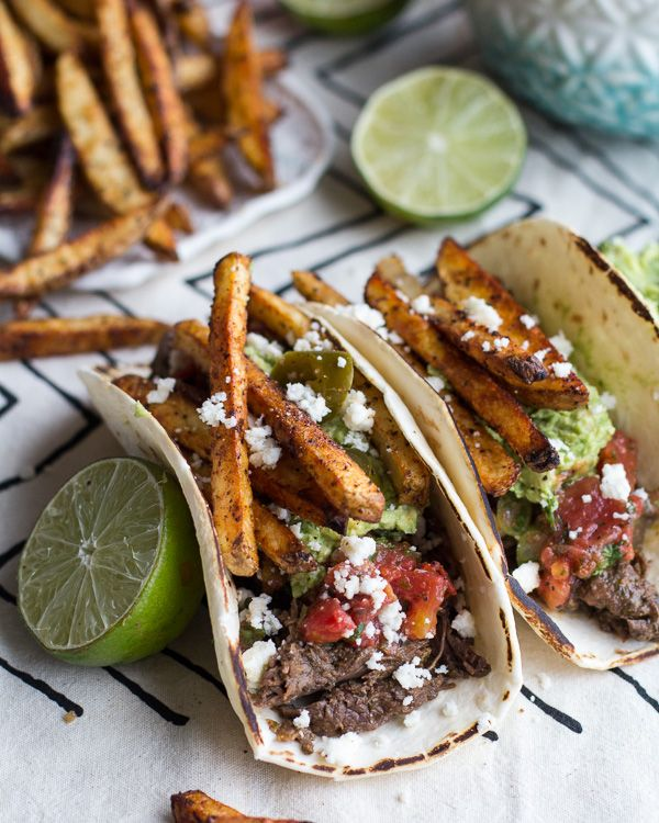 Loaded Crockpot Carne Asada Tacos. - Half Baked Harvest