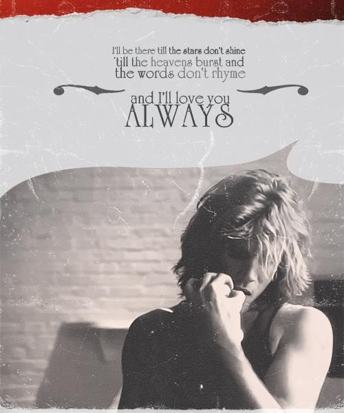 Always by Bon Jovi <3 back to reality night night and thank you for being there for us to love you!!