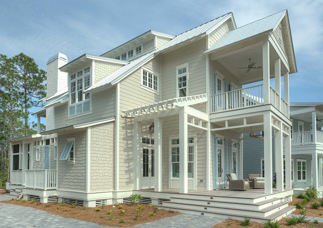 Best 25 hamptons beach houses ideas on pinterest beach - Coastal home exterior color schemes ...