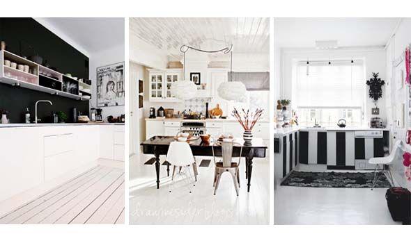 Più di 25 fantastiche idee su Cucine In Bianco E Nero su Pinterest  Cucine m...