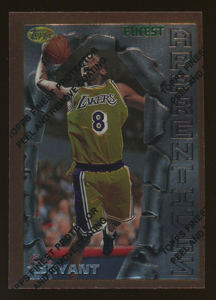 199697 topps finest apprentices kobe bryant lakers rc