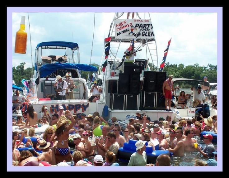 Party Outside the Glen,Lake George,Silver Glen Spring ...