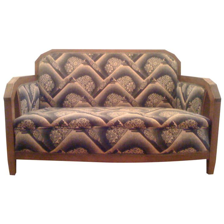 Austrian Cubist Sofa | From a unique collection of antique and modern sofas at https://www.1stdibs.com/furniture/seating/sofas/