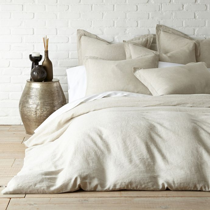 Levtex Home Washed Linen Duvet Cover In Coal Bed Bath Beyond