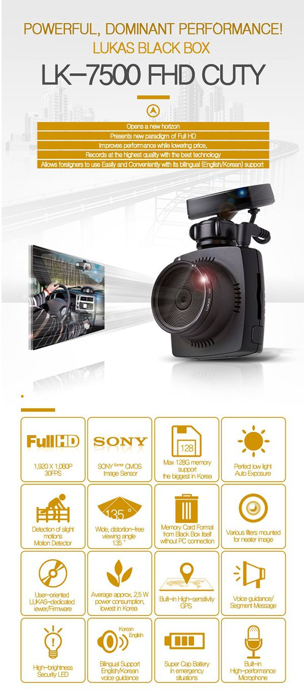 Lukas LK-7500. Latest light, compact and powerful #dashcam. Best dashcams on the Australia market.