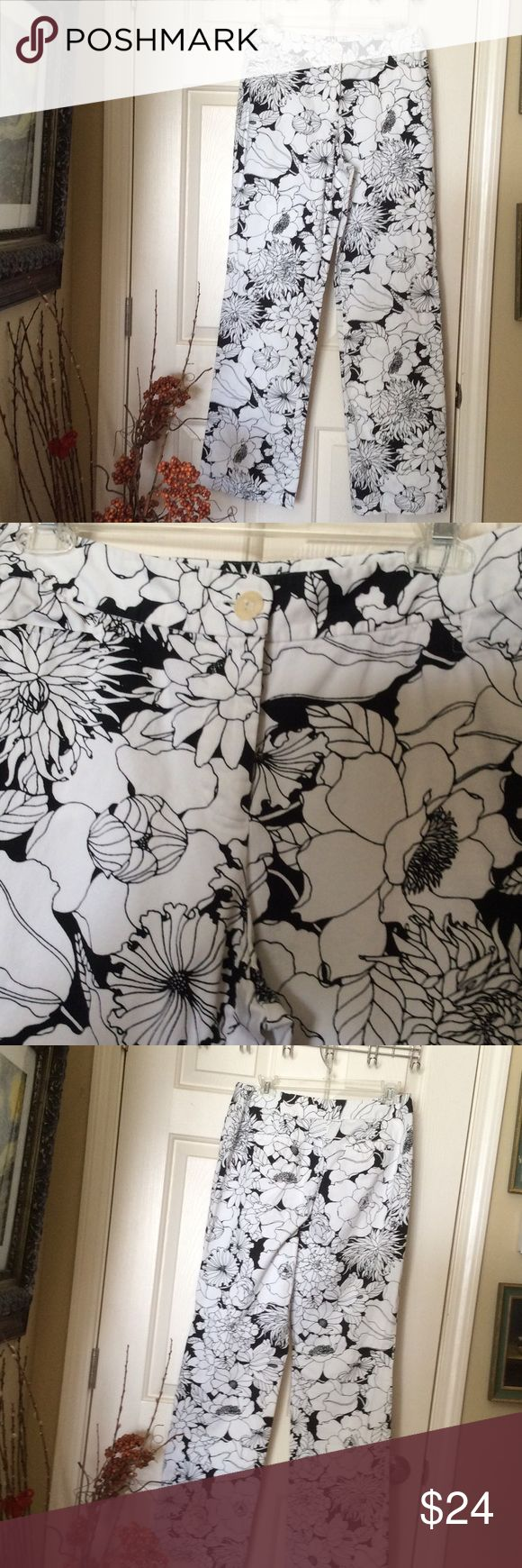 Floral Madison Studio Pants Black and white Madison Studio cotton and spandex pants. They feel and fit like a glove. In great condition. Slightly bell bottom. madison studio Pants