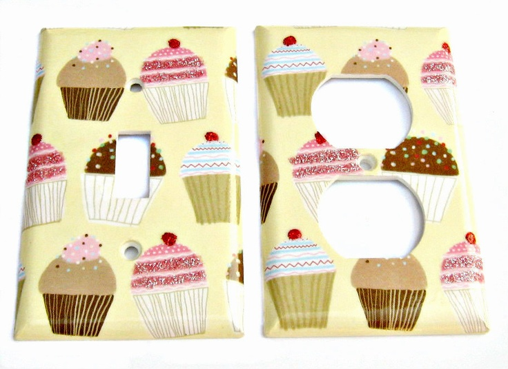 Cupcakes Kitchen Room Wall  Decor Light Switch Plate by Dressumups, $14.00