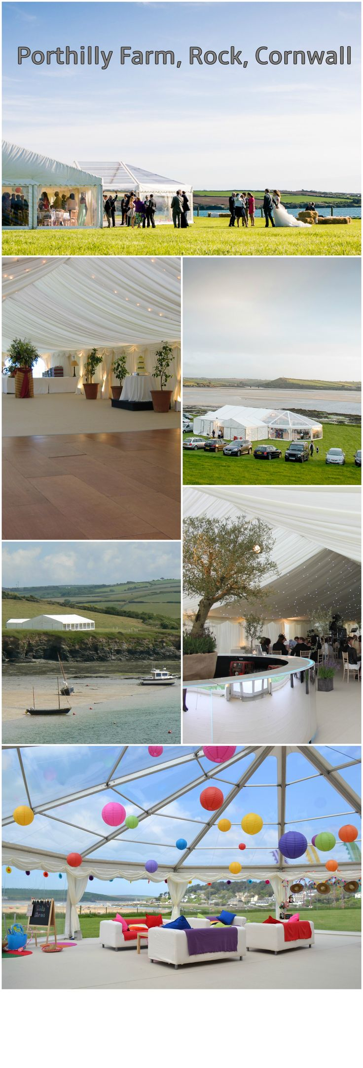 Porthilly Farm Rock Cornwall Is A Beautiful Marquee Wedding Venue With Waterfront Views Of