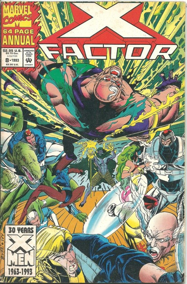X-Factor Annual Comic Book #8 (Marvel Graphic Novel) - oComics  X-Factor #8 annual 1993 marvel comics. First Appearance of Charon! Charon, What Have You Got to Hide?, and Crawlin' from the Wreckage.   Read Now: http://ocomics.com/product-category/comics/marvel/  #marvel #comics #online #ocomics #XFACTOR