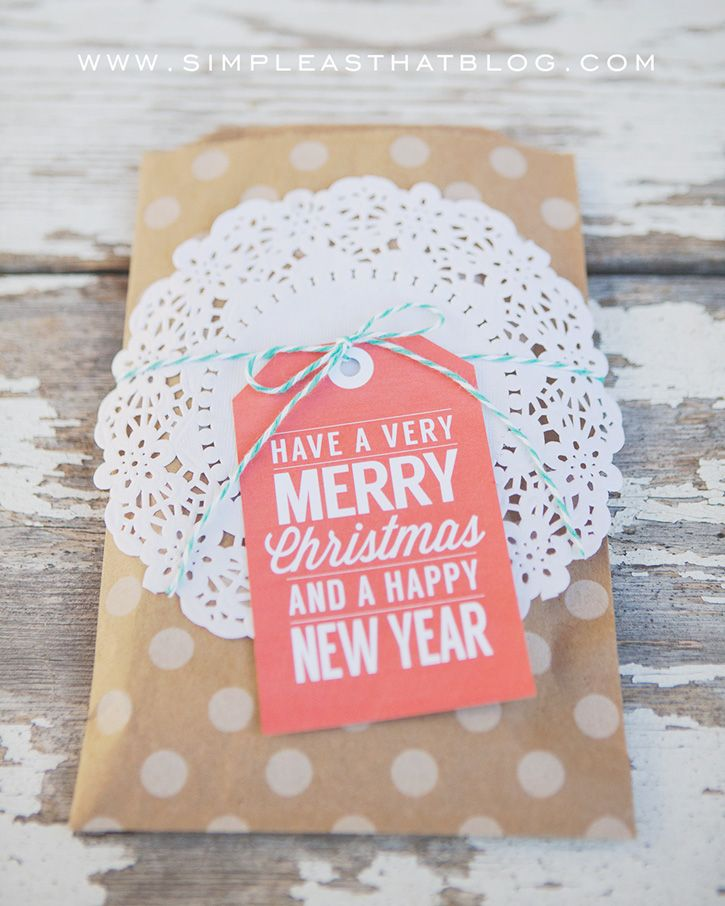 simple as that: Retro Type Printable Christmas Gift Tags