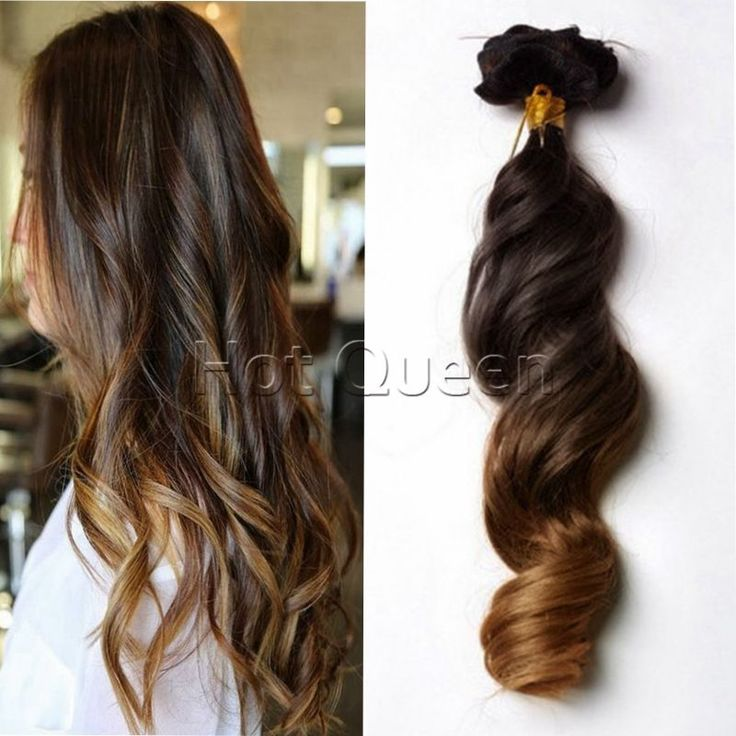 16 best ombre hair extensions images on pinterest wig blondes new 100 human hair clip in remy human hair extensions ombre color 7pcsset pmusecretfo Gallery