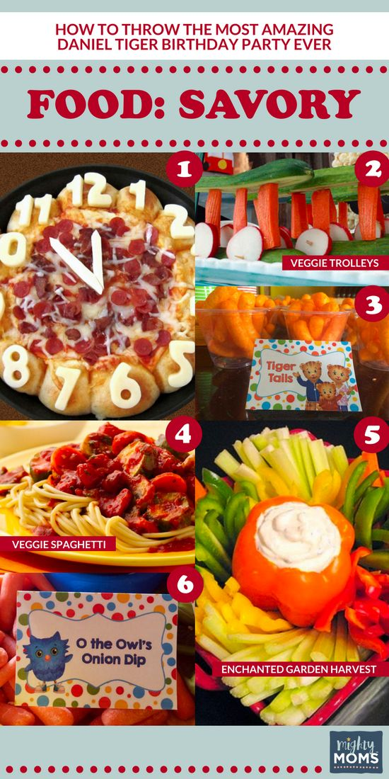 How to Throw the Most Amazing Daniel Tiger Party Ever http://www.mightymoms.club/daniel-tiger-party/?utm_campaign=coschedule&utm_source=pinterest&utm_medium=Mighty%20Moms&utm_content=How%20to%20Throw%20the%20Most%20Amazing%20Daniel%20Tiger%20Party%20Ever #party #food