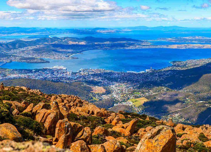 Mount Wellington peak. Tasmanian Island, Australia