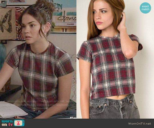 Callie's plaid tee on The Fosters.  Outfit Details: https://wornontv.net/58955/ #TheFosters
