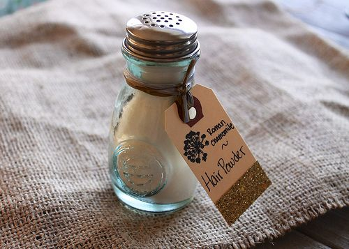 Herbal Hair Powder by thedabblist, via Flickr/advertise baby powder as hair powder as well