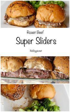 Roast Beef Super Sliders | http://NoBiggie.net
