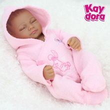 25cm Full Body Silicone Reborn Dolls Lifelike Sleeping Baby Girl Alive Reborn Realistic Princess Toys Birthday Xmas Gift 10 inch(China (Mainland))