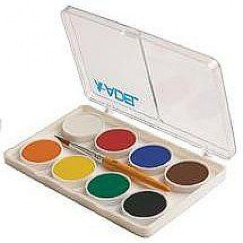 Kis gombos vízfesték készlet 8 darabos, ecsettel - Adel 911 - Akvarell festék - 269Ft - Vízfesték - Vízfesték készlet - Akvarell festék