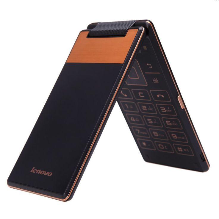 NEW UNLOCKED LENOVO A588T FLIP GOLD/BLACK DUAL SIM QUAD CORE SMARTPHONE #Lenovo #Flip
