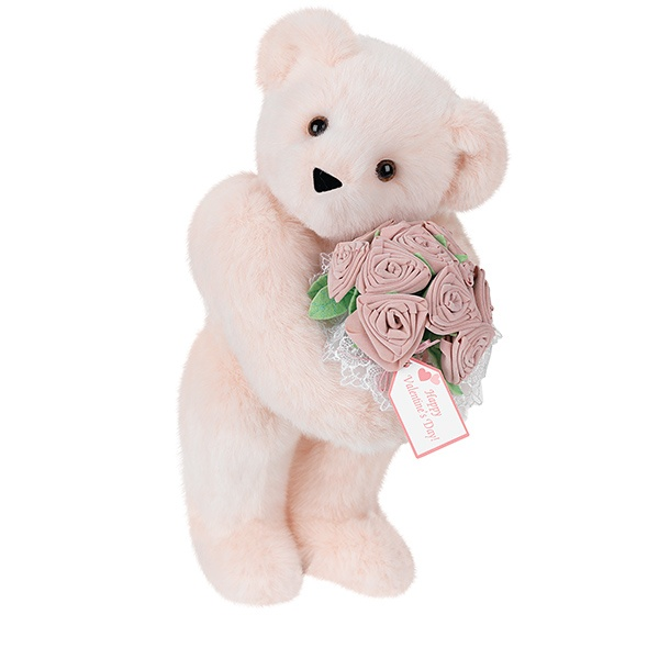 Teddy bear with pink roses - photo#33