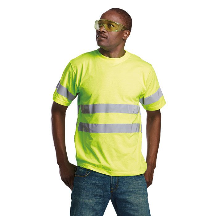 Safety T Shirt with reflective tape, workwear South Africa, Cape Town