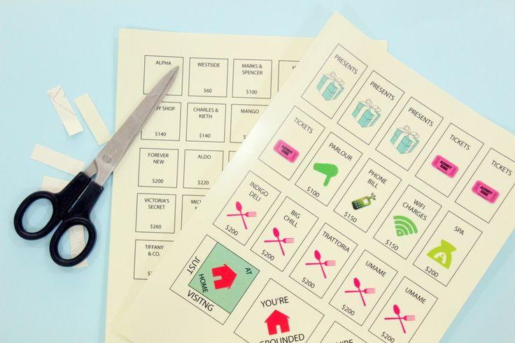monopoly custom stickers