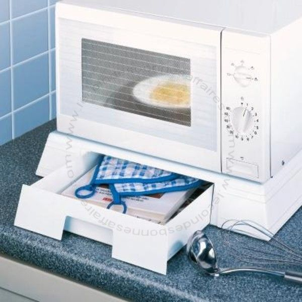 support serviteur pour micro ondes avec tiroir. Black Bedroom Furniture Sets. Home Design Ideas