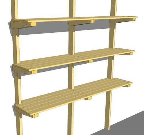 Garage hanging wall shelves woodworking plan A recent kitchen renovation project inspires new woodshop storage ideas for my garage recycle the old kit