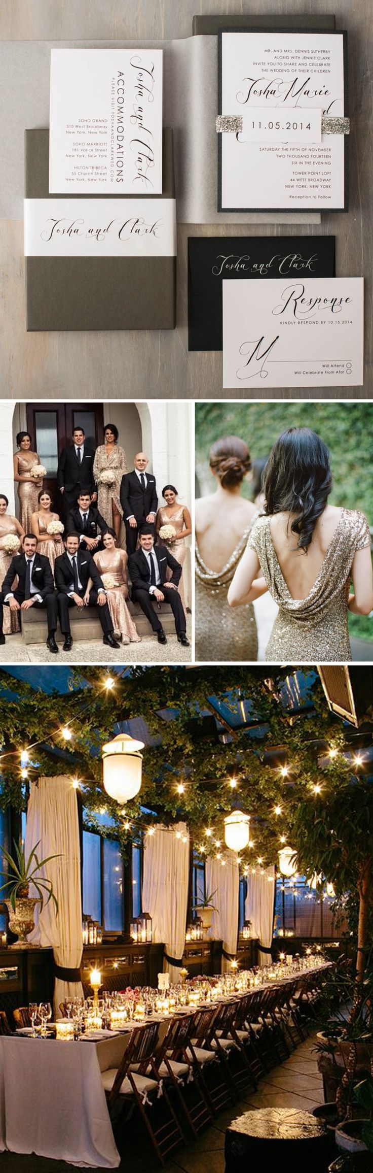 Elegant Script Boxed Wedding Invitations Inspiration By Beacon Lane