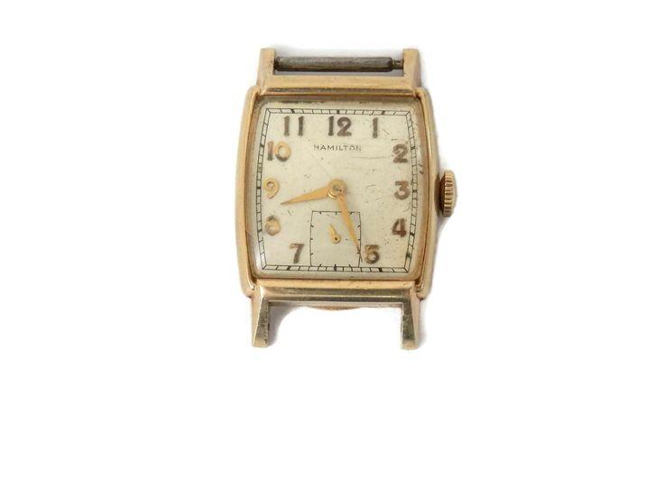 MCM 10K Gentleman Watch by Hamilton Spencer circa 1953 Yeadon Pa Championship by bigbangzero on Etsy