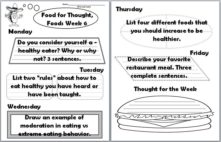 Writing assignment nutrition sources