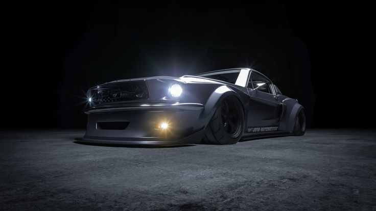 Ford Mustang Fastback 1967 Widebody Concept Art 4k Mustang Fastback Ford Mustang Fastback Ford Mustang
