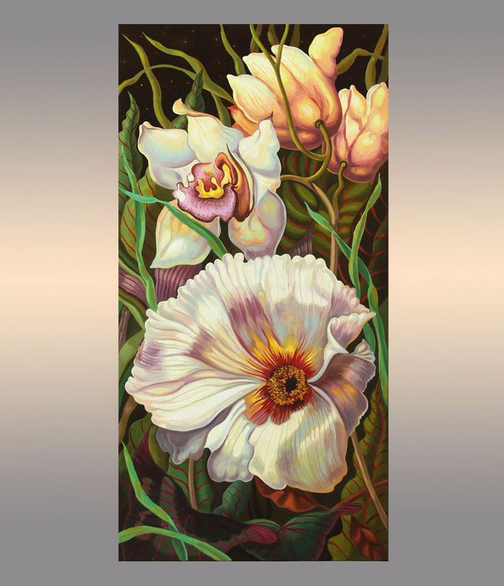 Floral painting | Flowers Oil Painting on Canvas | Original Artwork | Hand Painted | Wall Art by OliviaArtGallery on Etsy